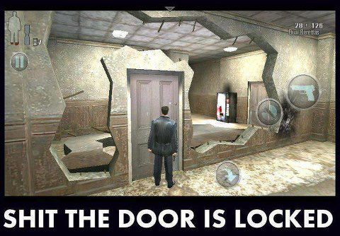 Shit the Door is Locked - Game Trolls