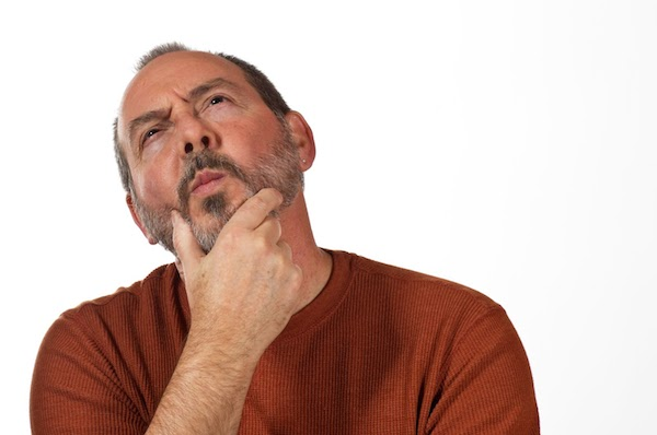 thinking man stock photo thinker questioning puzzling man